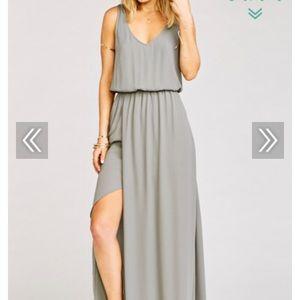 NWT Show Me Your Mumu Kendall Maxi Dress Charcoal